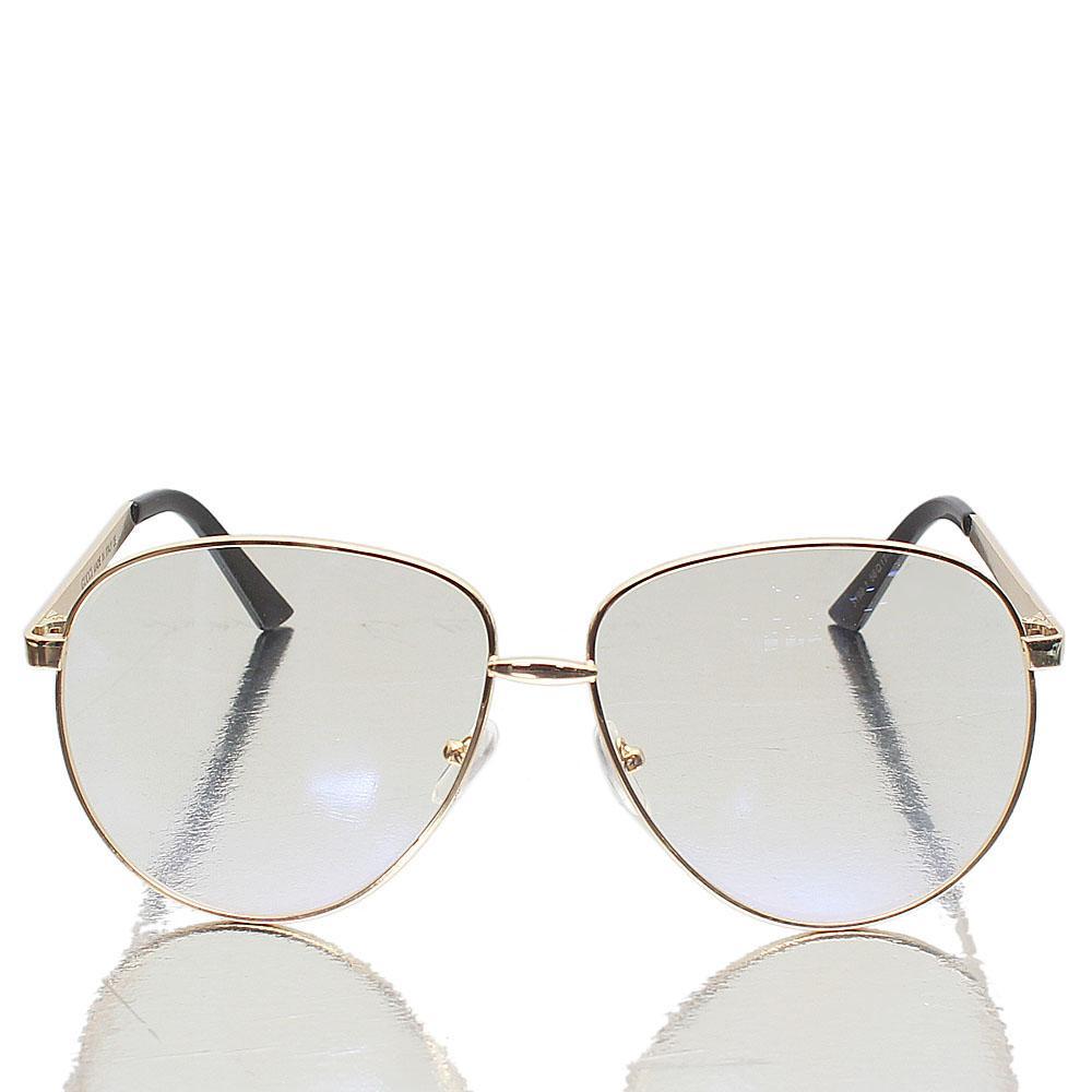 Gold Aviator Clear Lens Glasses