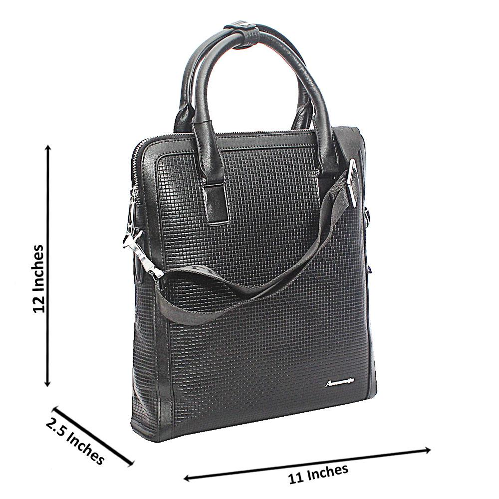 Black Woven  Style Small Tote Man Bag