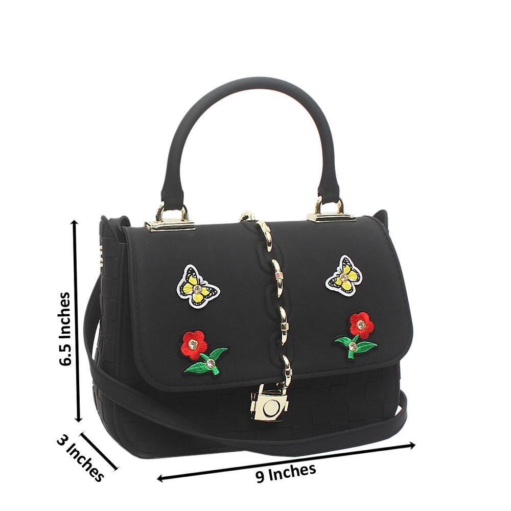 Black Rubber Small Cutie Bag