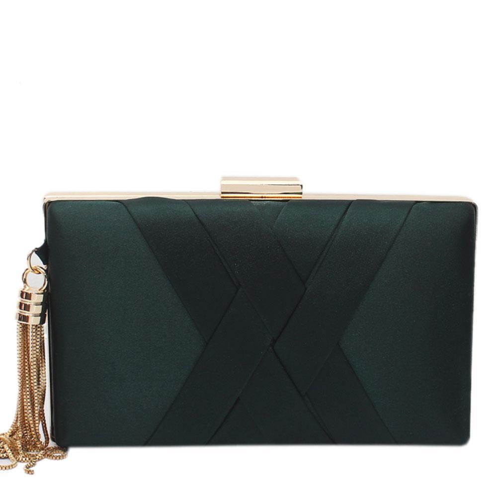 Green Fabric Premium Hard Clutch