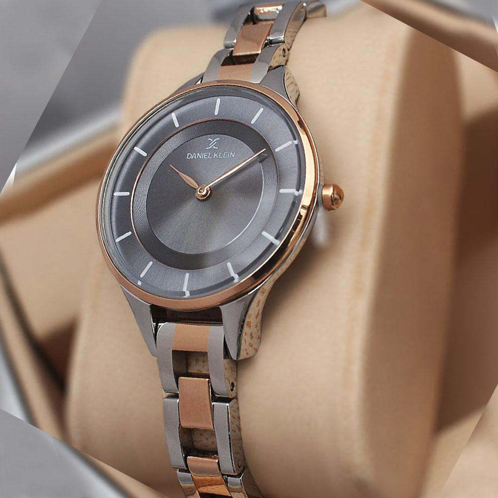 Daniel Klein  Ultra Slim Silver Chain Watch