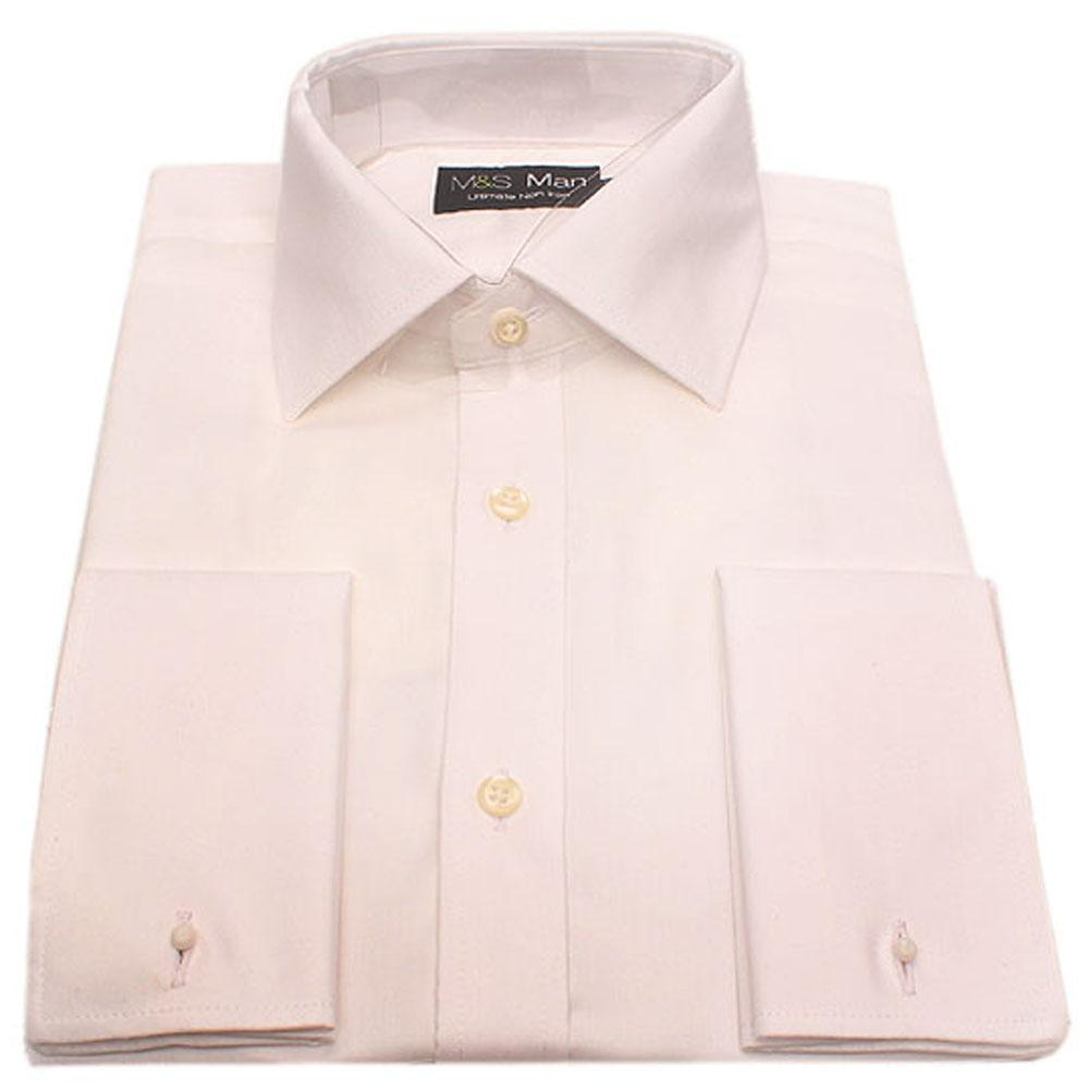 M & S Man White Non Iron L/Sleeve Men Shirt-Sz 15
