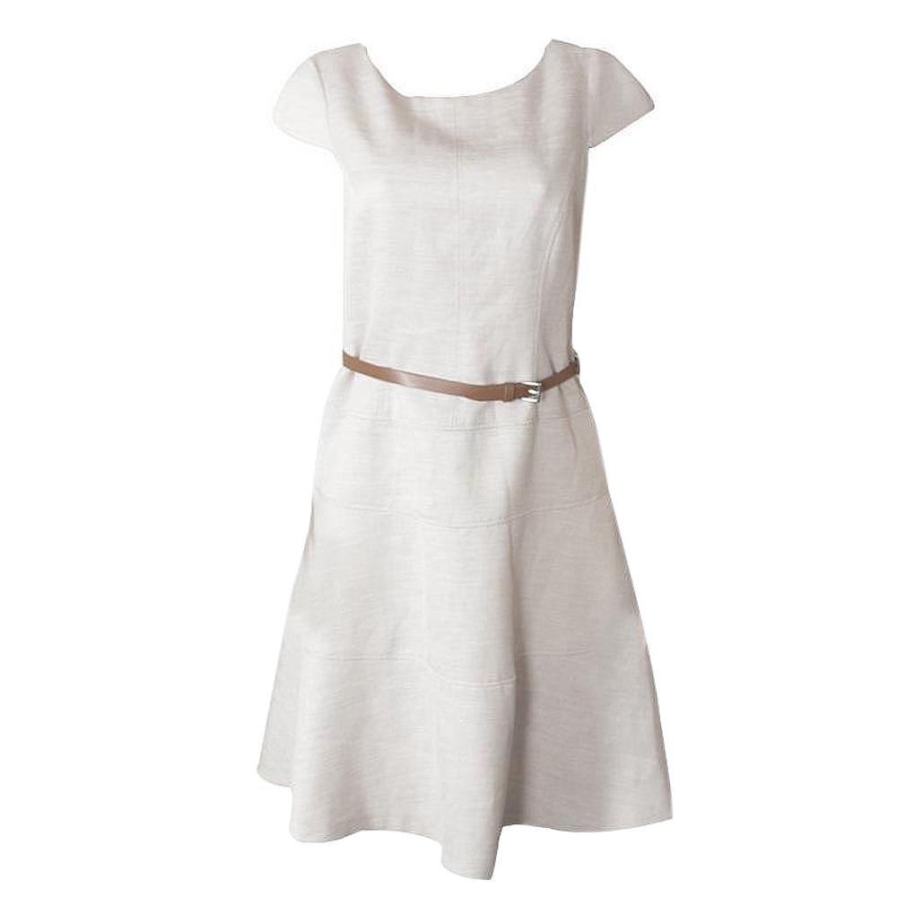Anne Klein Cream Sleeveless Ladies Dress-Uk10