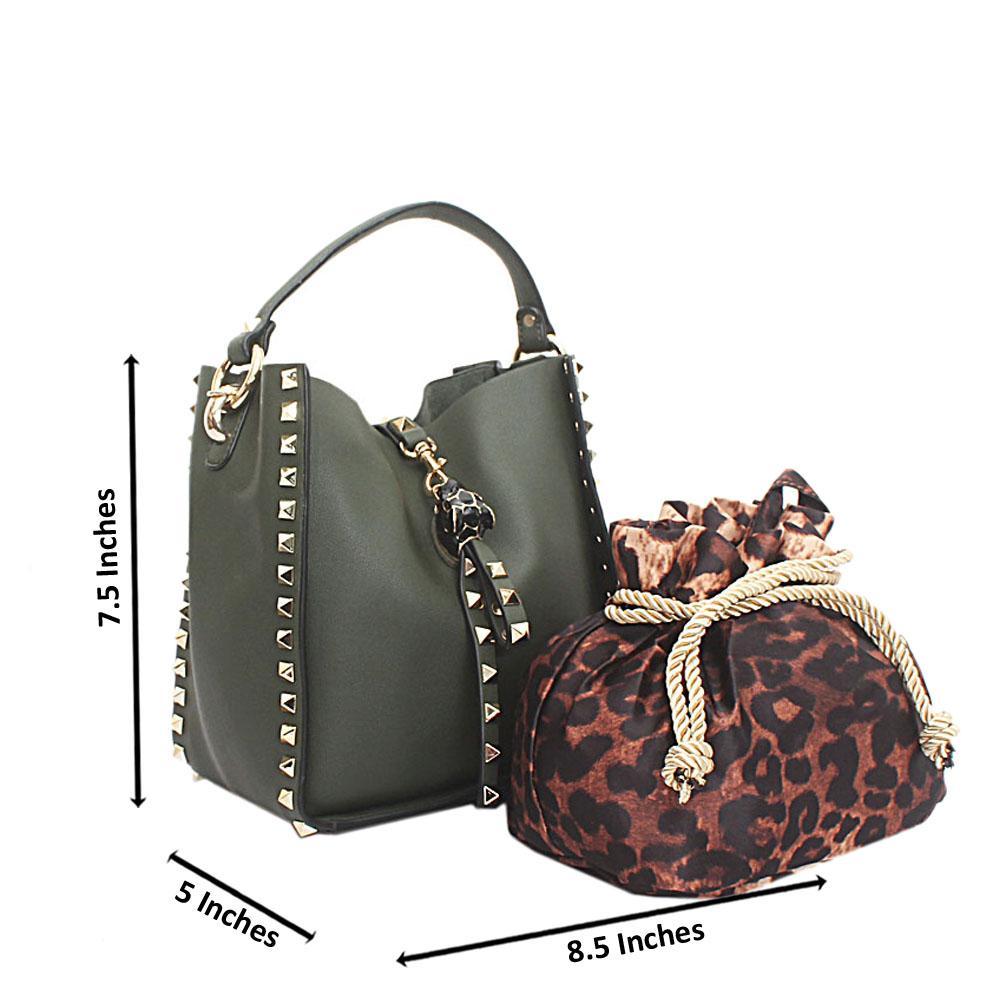 Green Mini Montana Leather Handbag