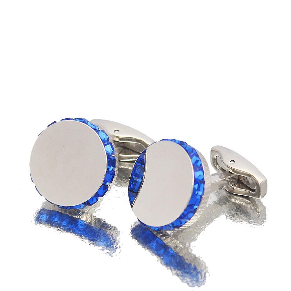 Staffordshire Silver Blue Ice Stainless Steel Cufflinks