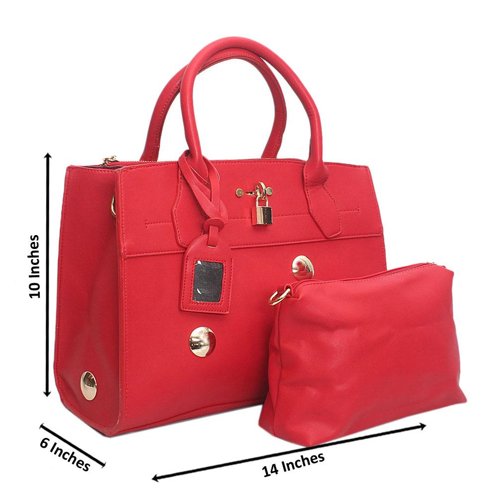 Red Leather Clearance Handbag Wt Inside Peeling