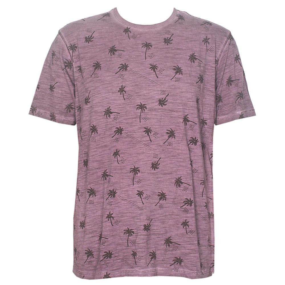 North Coast Wine Beach Print Cotton Tailored Fit Men T-Shirt