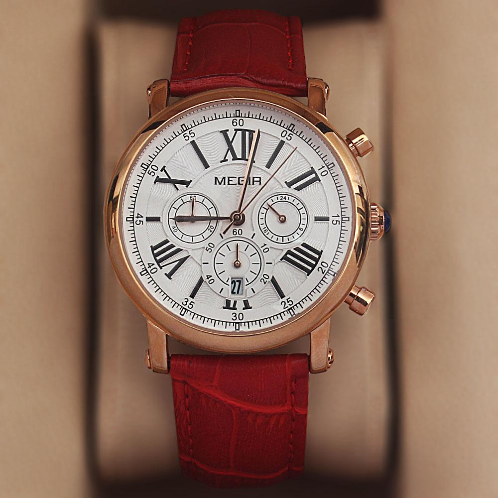 MG Red Chronograph Ladies Watch
