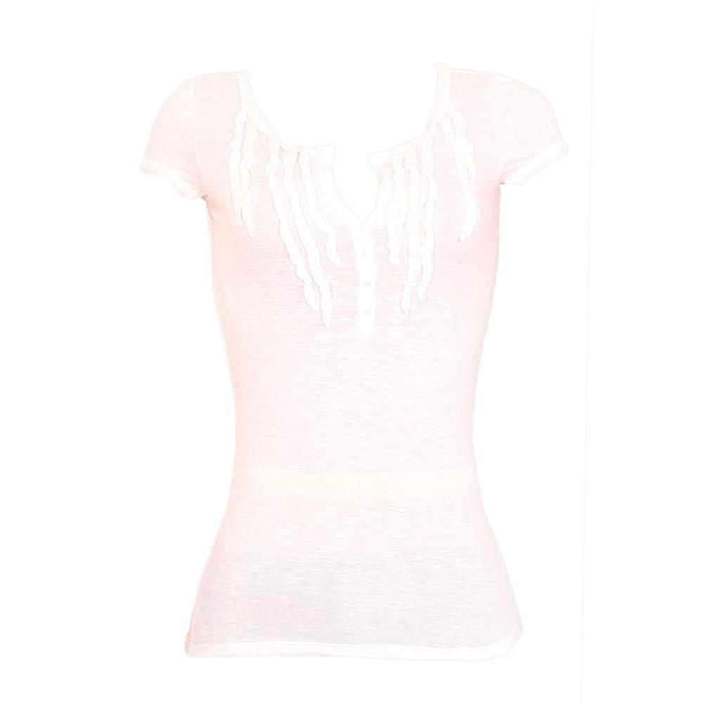 Aeropostale White Ladies Top wt Pleated Front Sz S