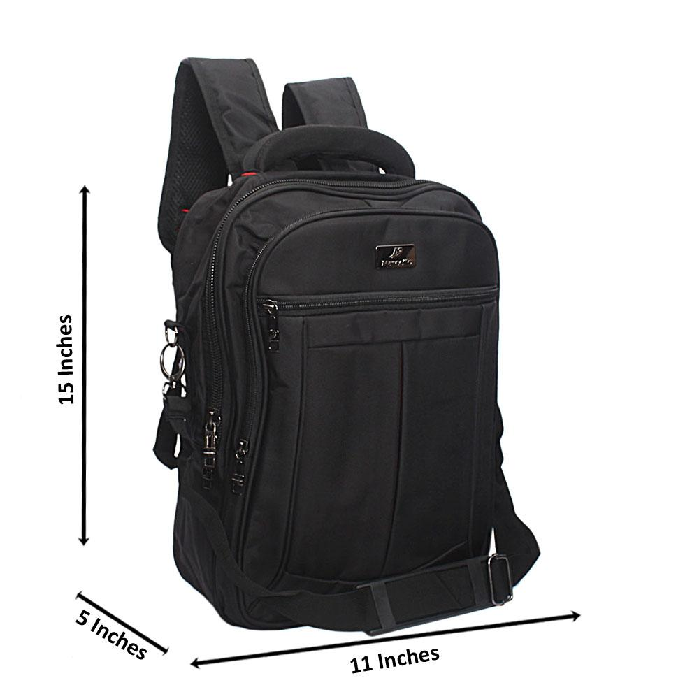 Black Marcello Outline Leisure Life Backpack