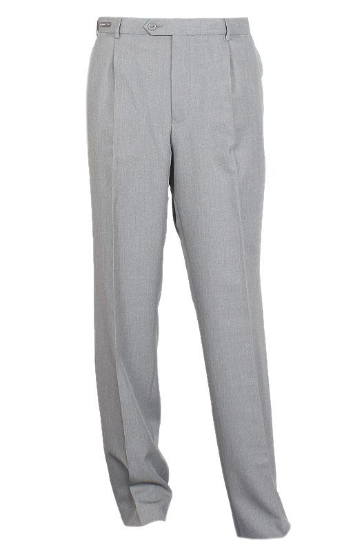 M & S Gray Cotton Regular Fit Men Pant
