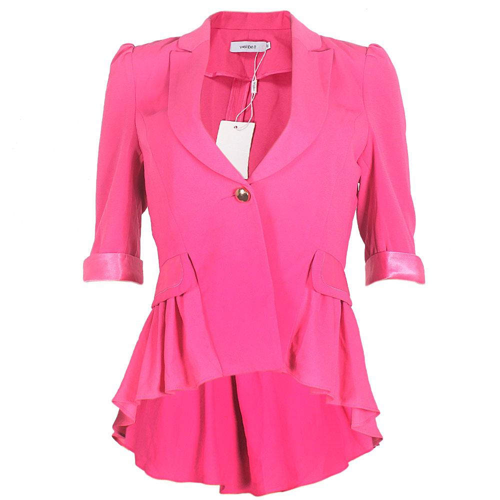 Wehbe Pink Cotton One Button Piece Ladies' Jacket-Sz M