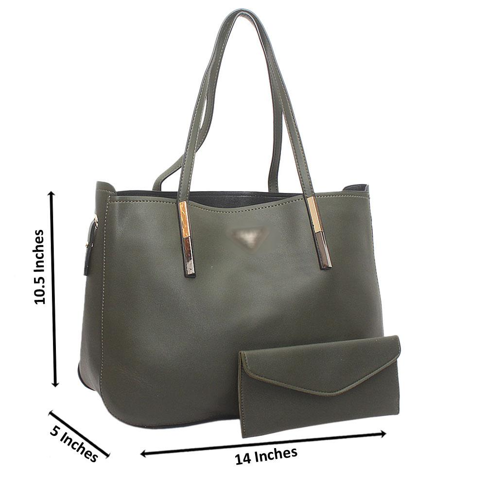Green Milano Medium Leather Handbag