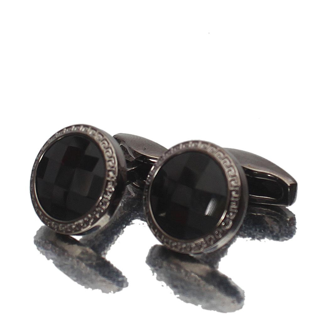 Black Ceramic Stainless Steel Cufflinks
