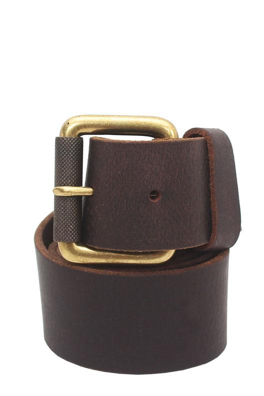 RockPort Brown Studded Genuine Leather Men Belt