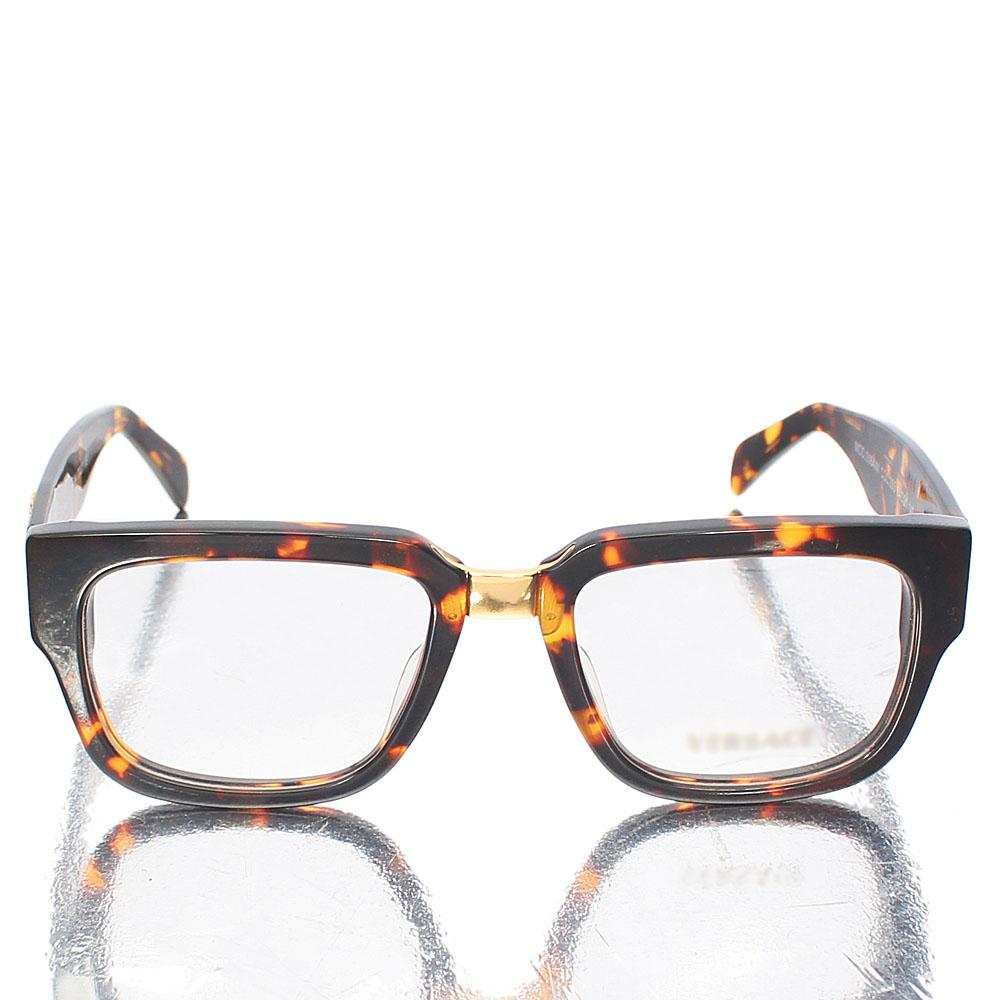 Gold Brown Classic Wayfarer Clear Lens Glasses