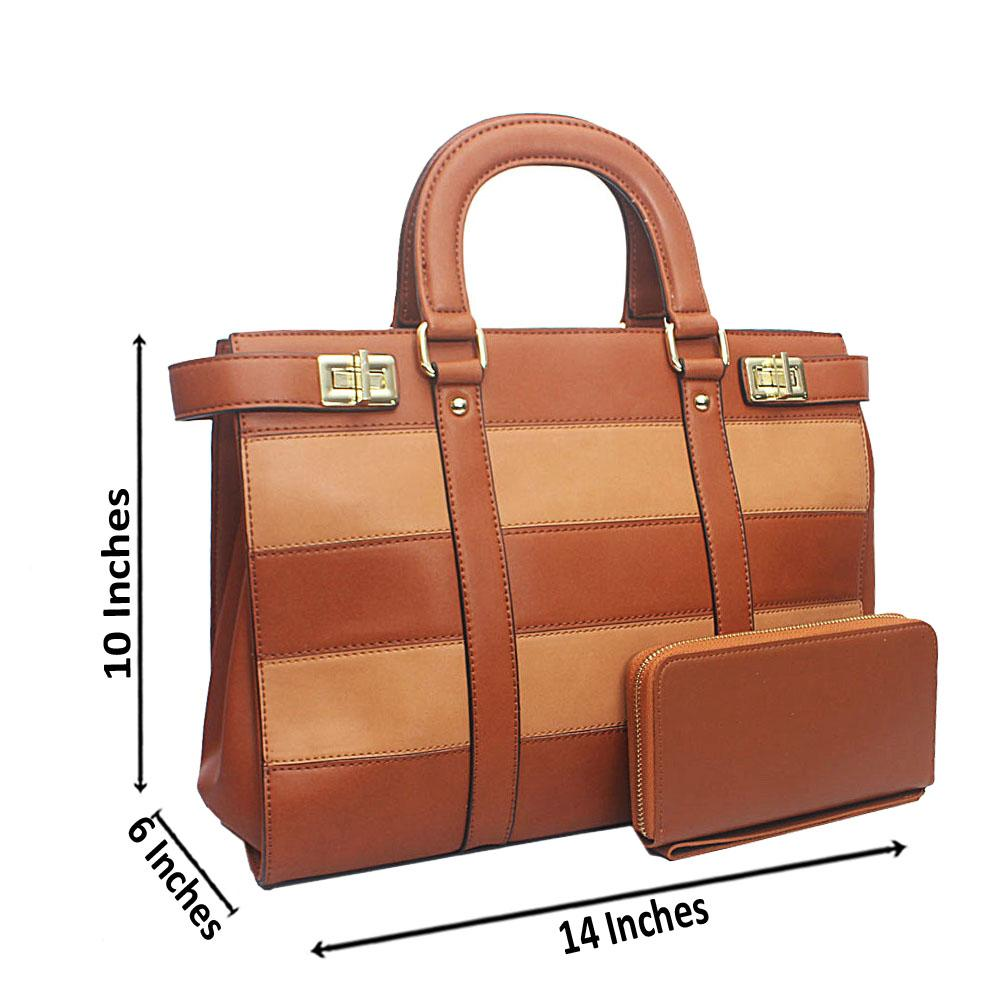 Susen Brown Square Leather Handbag