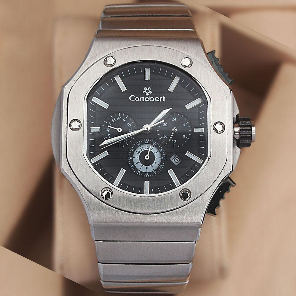 Cortebert Sapphire Ice All Stainless Steel 3ATM Water Resistant Chrono Wa