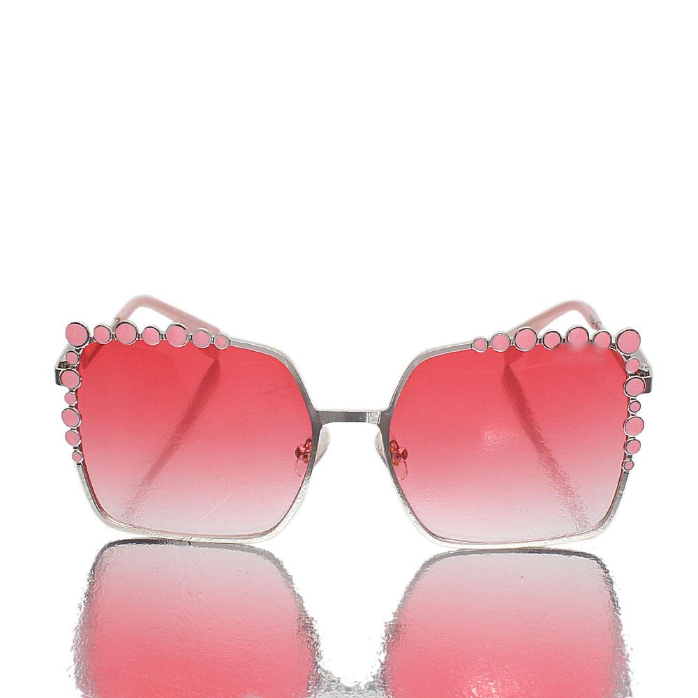 Baby Pink Square Face Sunglasses