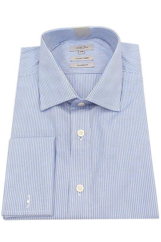 Austin Reed Blue White Stripe Classic Fit Men Shirt