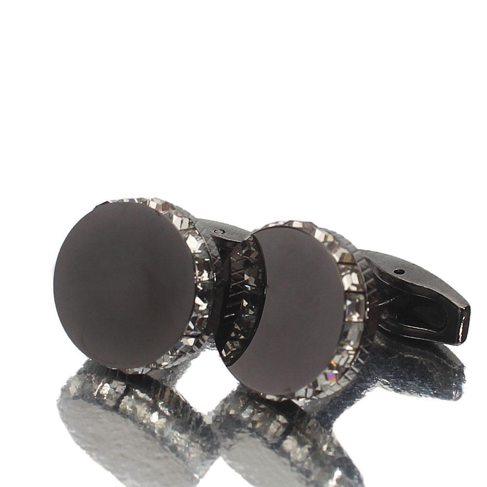 Staffordshire Black Ice Stainless Steel Cufflinks