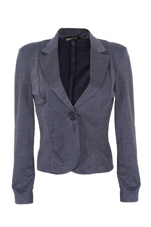 Queen Navy Blue Ladies L/Sleeve Jacket