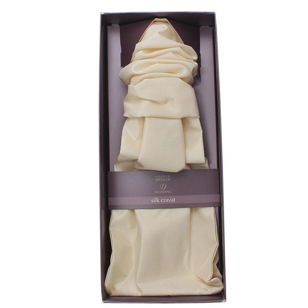 Marks & Spencers Ivory Silk Cravat