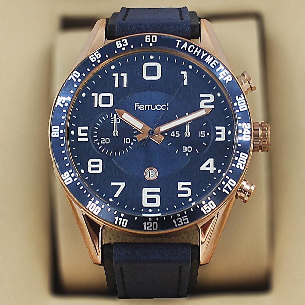 Ferrucci Aleta  Blue Leather Sport Series Watch