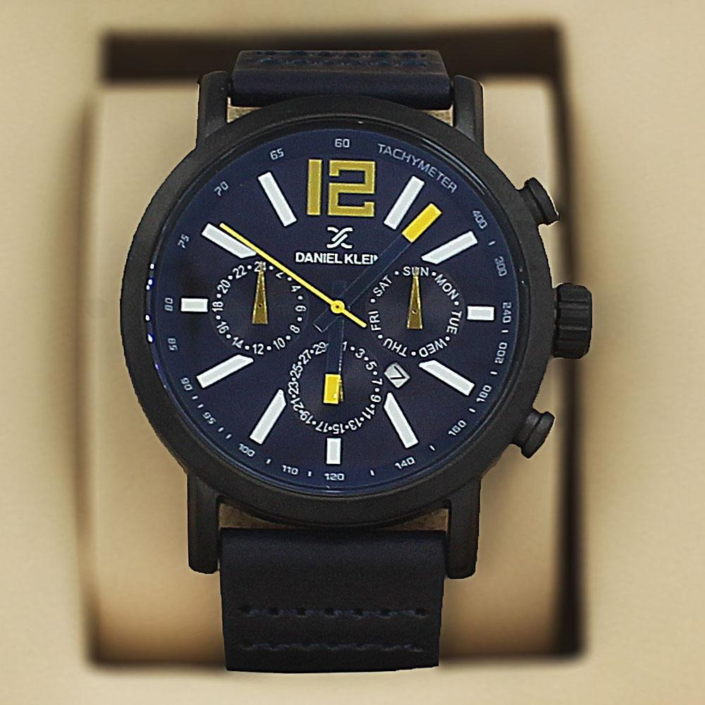 Daniel Klein Maximo Black Leather Fashion Series Watch