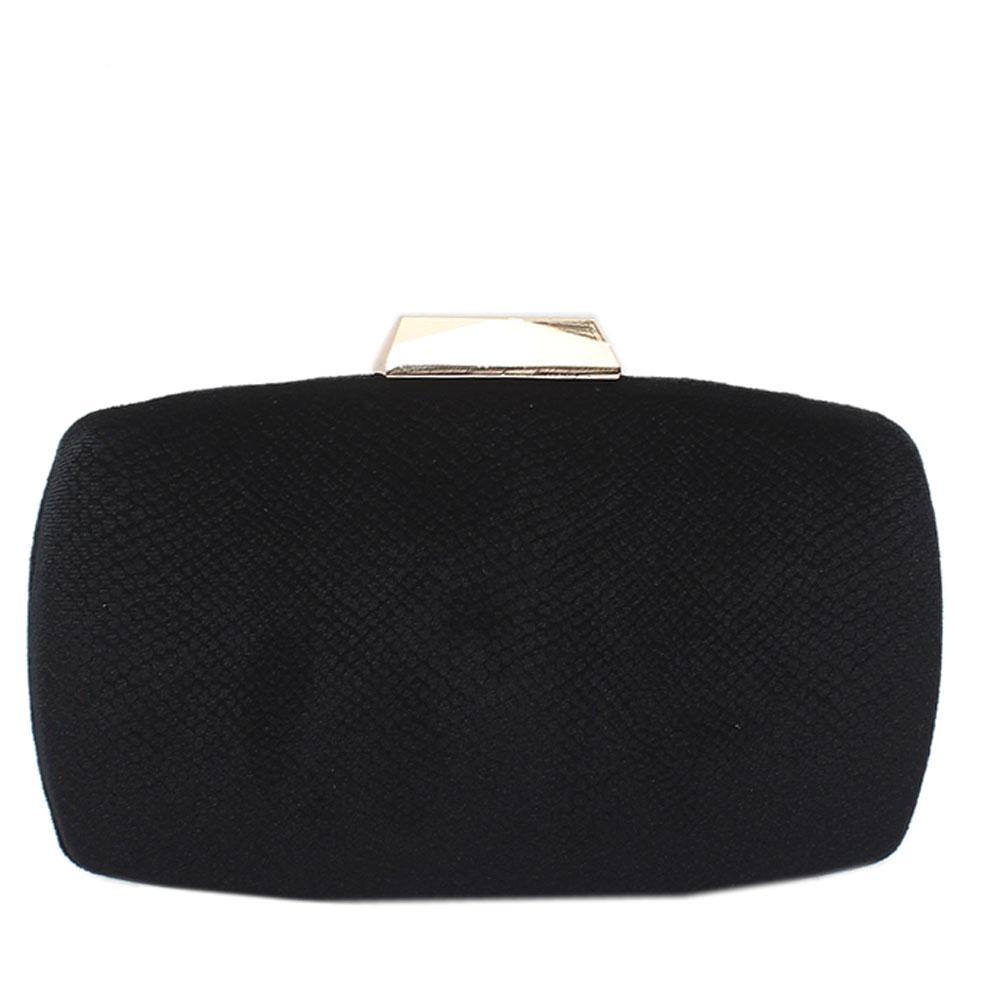 Black Corduroy Premium Hard Clutch