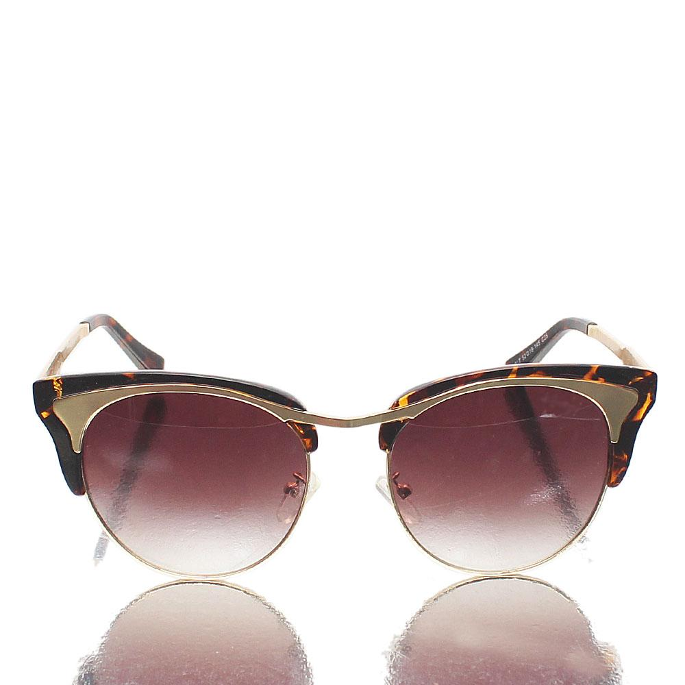 Gold Brown Club-Mistress Sunglasses