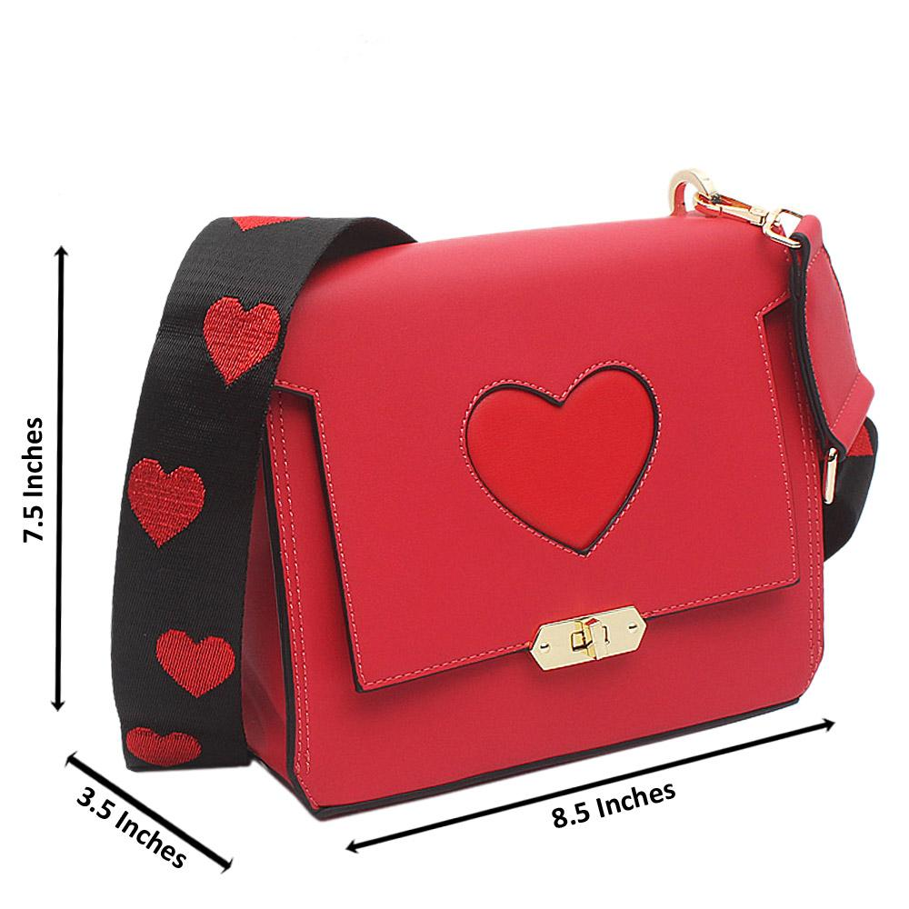 Red Leather Small Love Bag