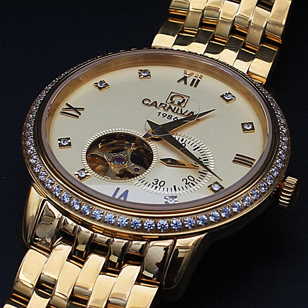 Shanghai Emiliano Gold Studded Automatic Watch