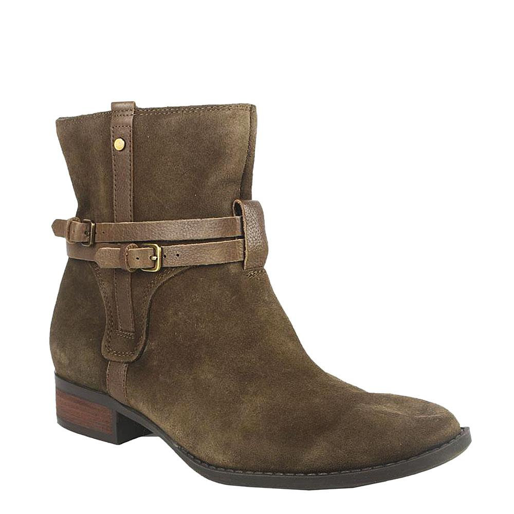 FG Green Suede Ladies Ankle Boot-EUR 40