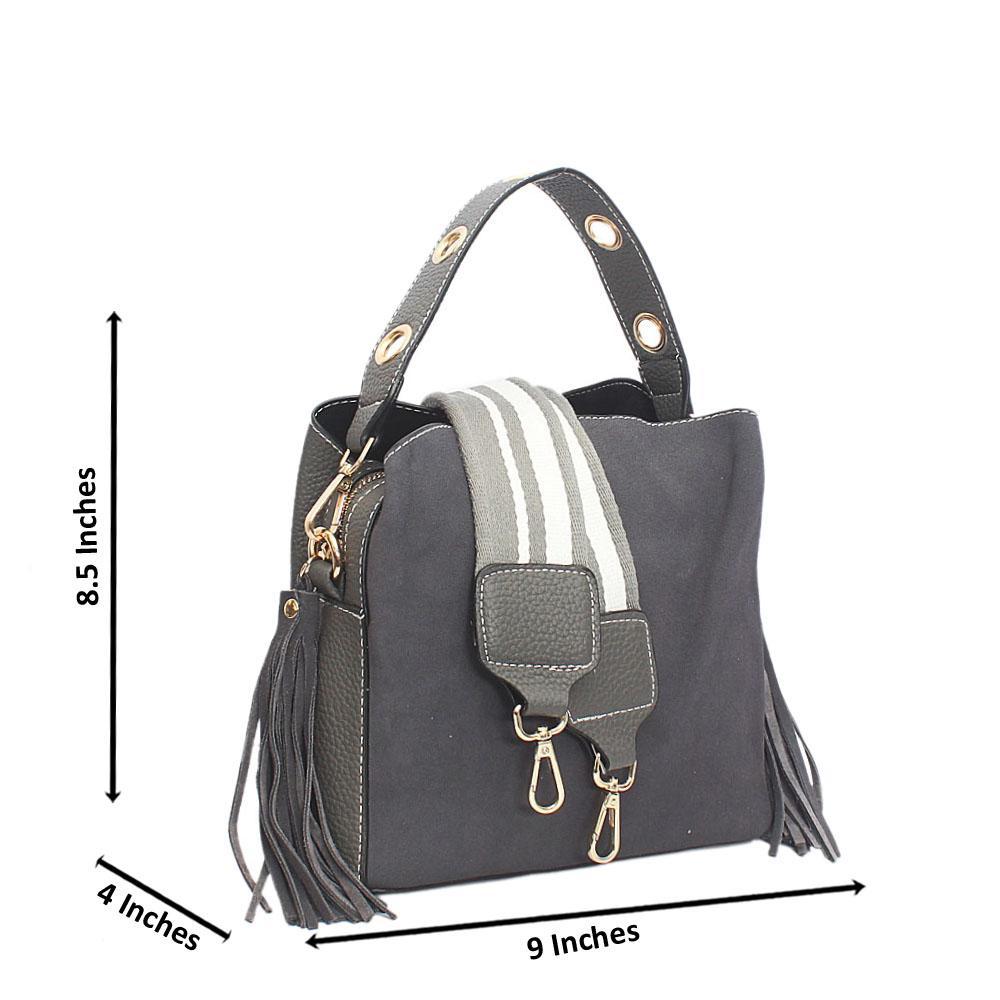 Gray Amelia Tandy Leather Mini Handbag