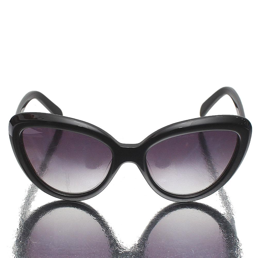 Black Cat Eye Dark Lens Sunglasses