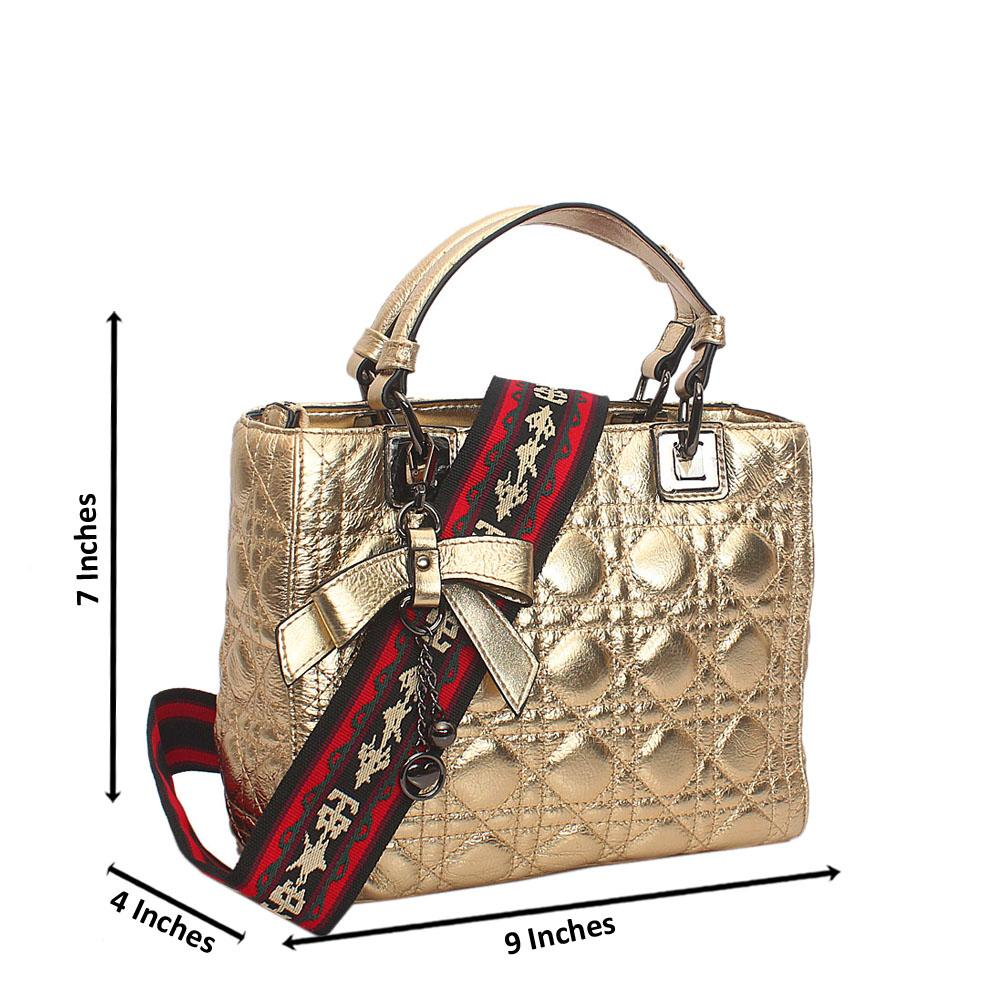 Gold Everyday Girl Tuscany Leather Handbag