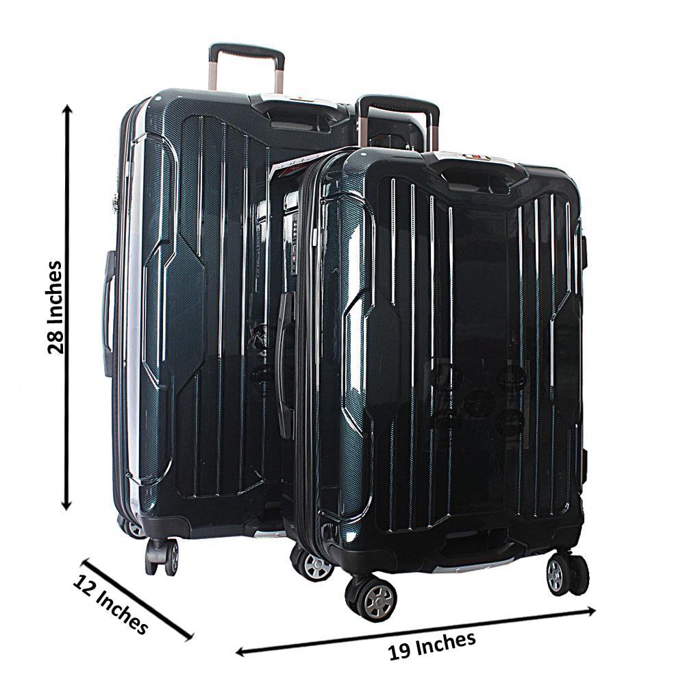 Saint Green 28 inch wt 24 inch 2-in-1 Hardshell Spinners Premium Suitcase S