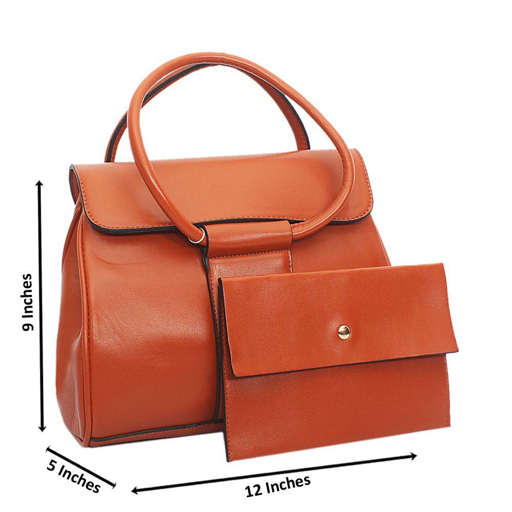 Brown Leah Tuscany Leather Tote Handbag