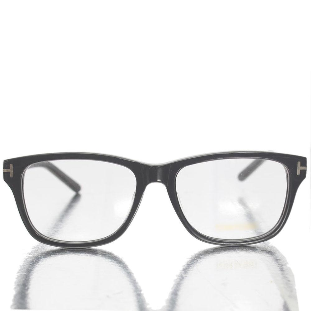 Black Wayfarer Transparent Lens Glasses