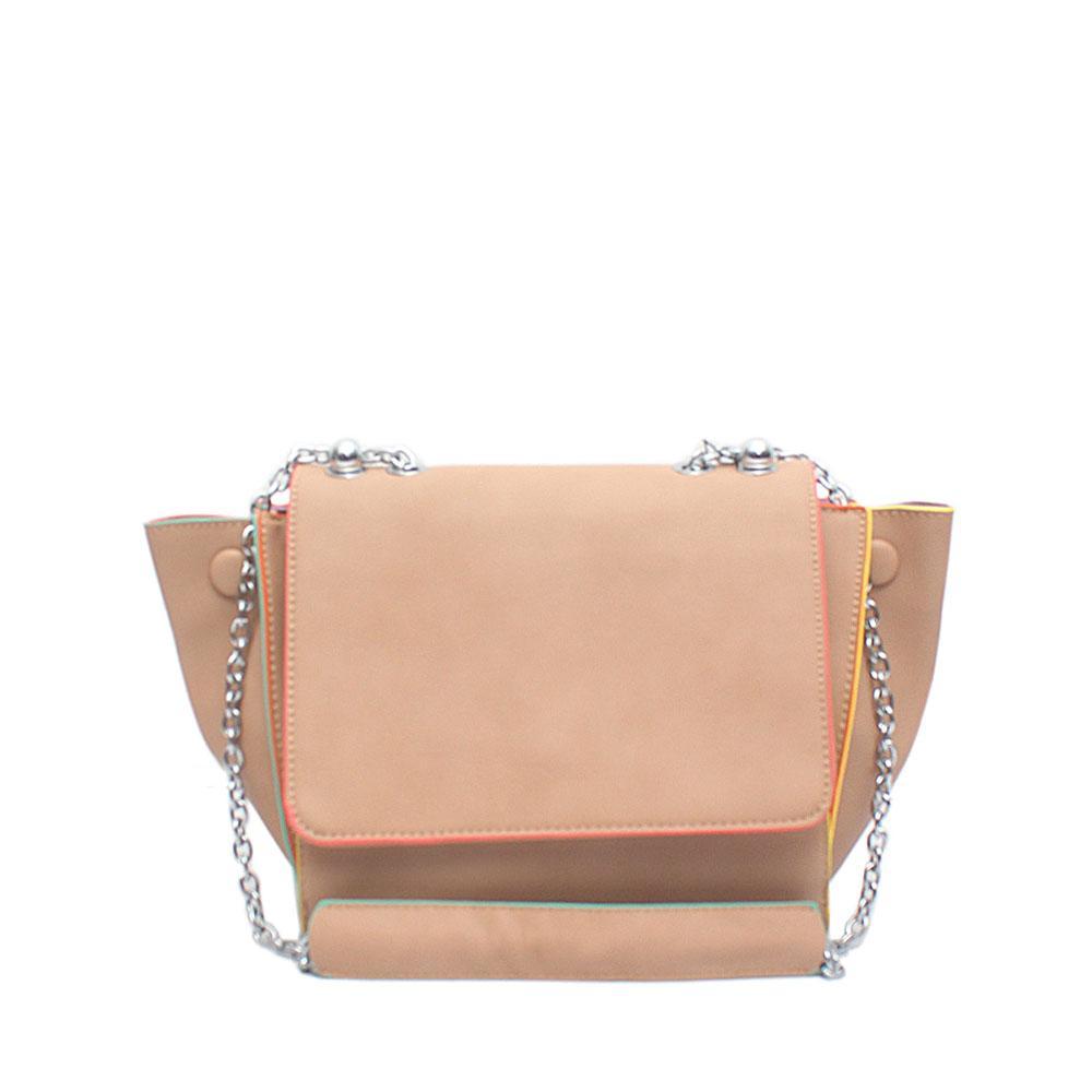 Snorks Barbie Kamel Brown Leather Shoulder Bag