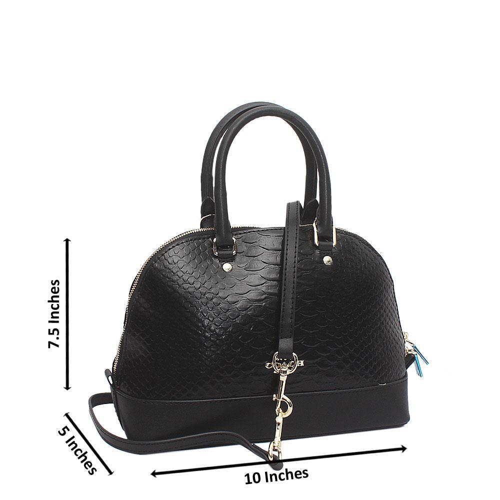 Safari Black Croc Leather Small Hand Bag