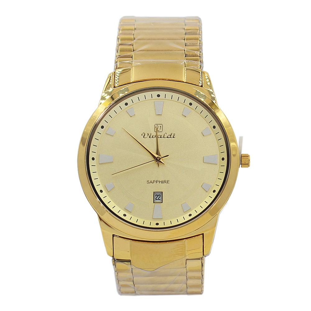 Gold Karstan Stainless Steel Fashion Watch
