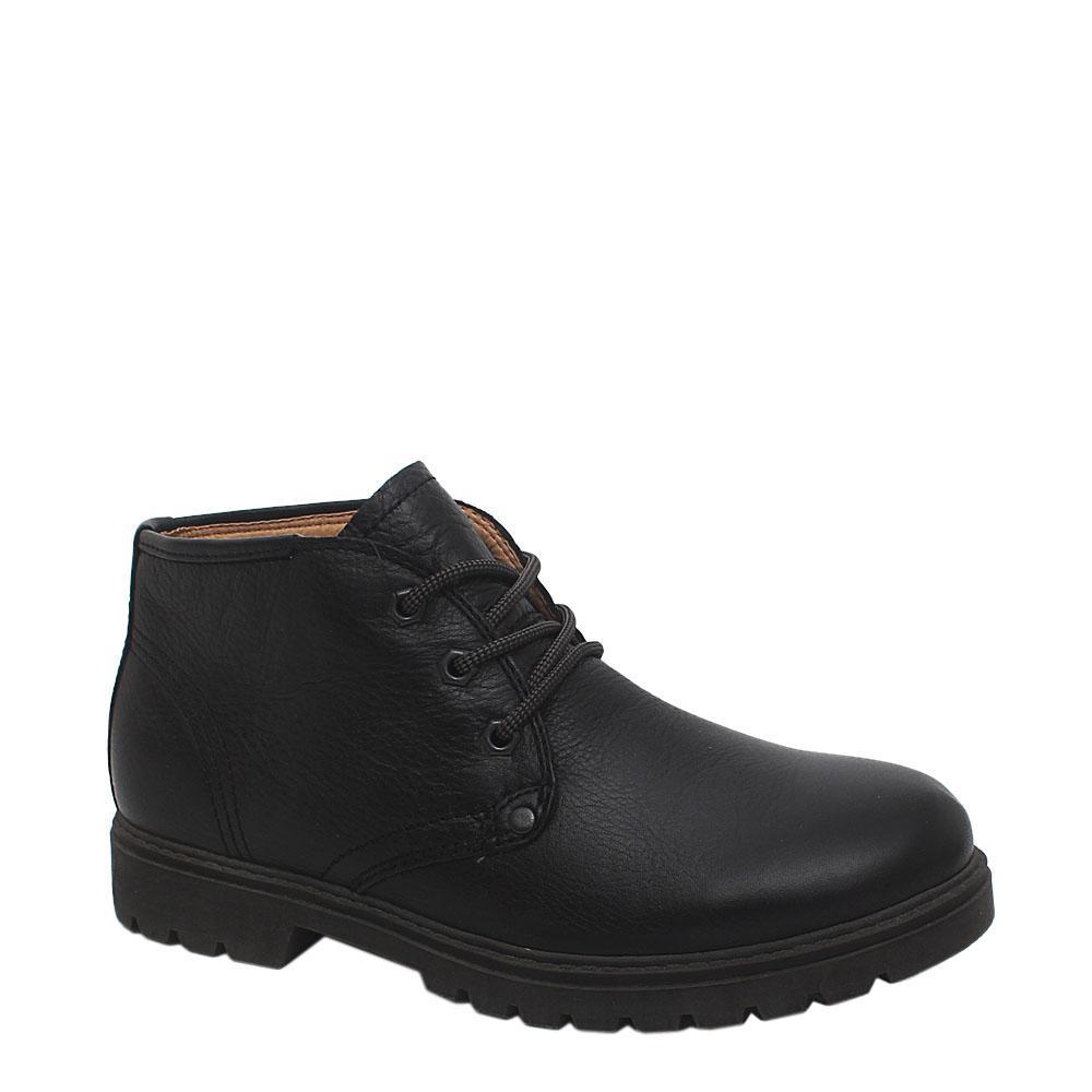 Blue Harbour Black Leather Ankle Shoe