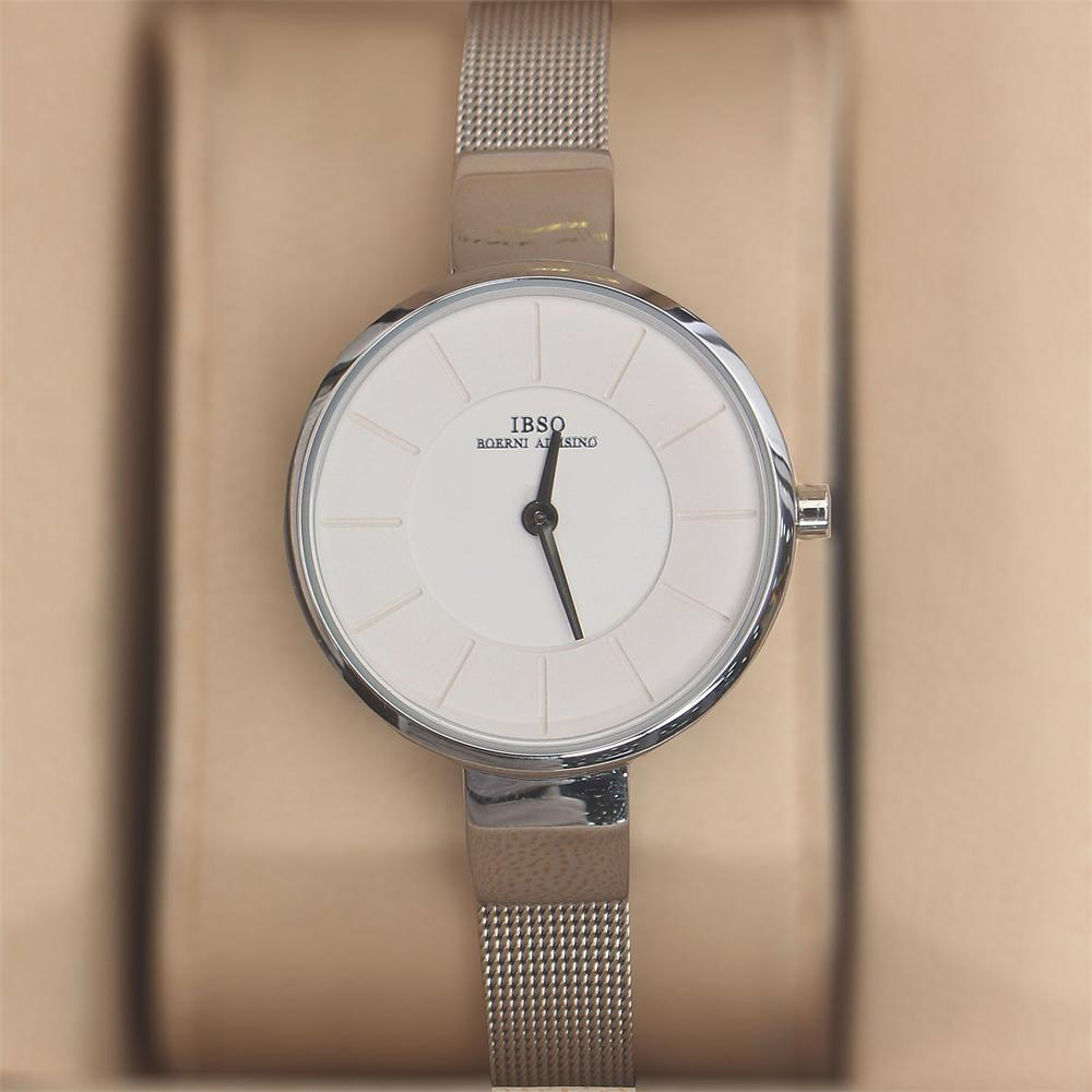 Ella Silver Stainless Mesh Ladies Watch