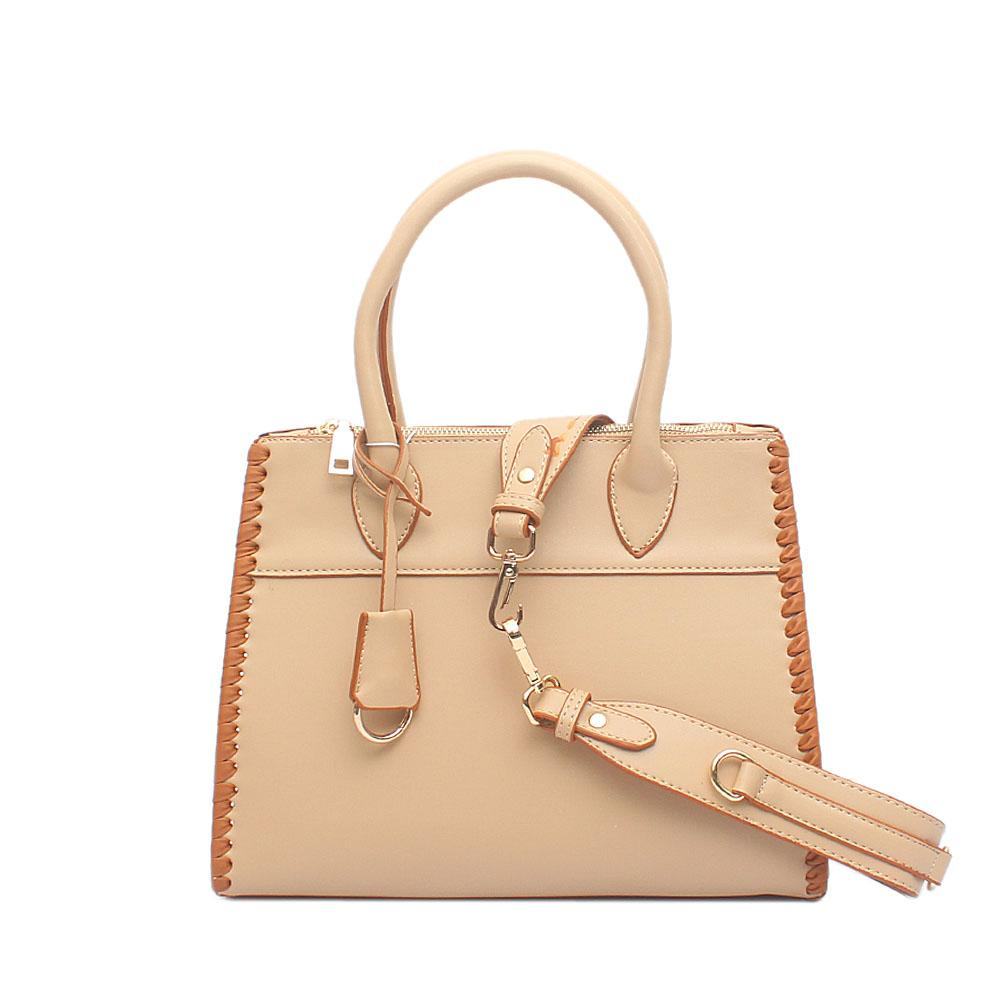 London Style Swift Light Brown Leather Tote Bag
