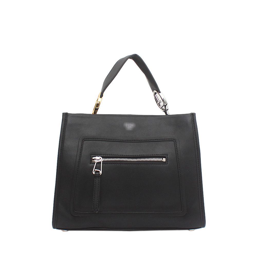 Black Saffiano Leather Small Runaway Bag