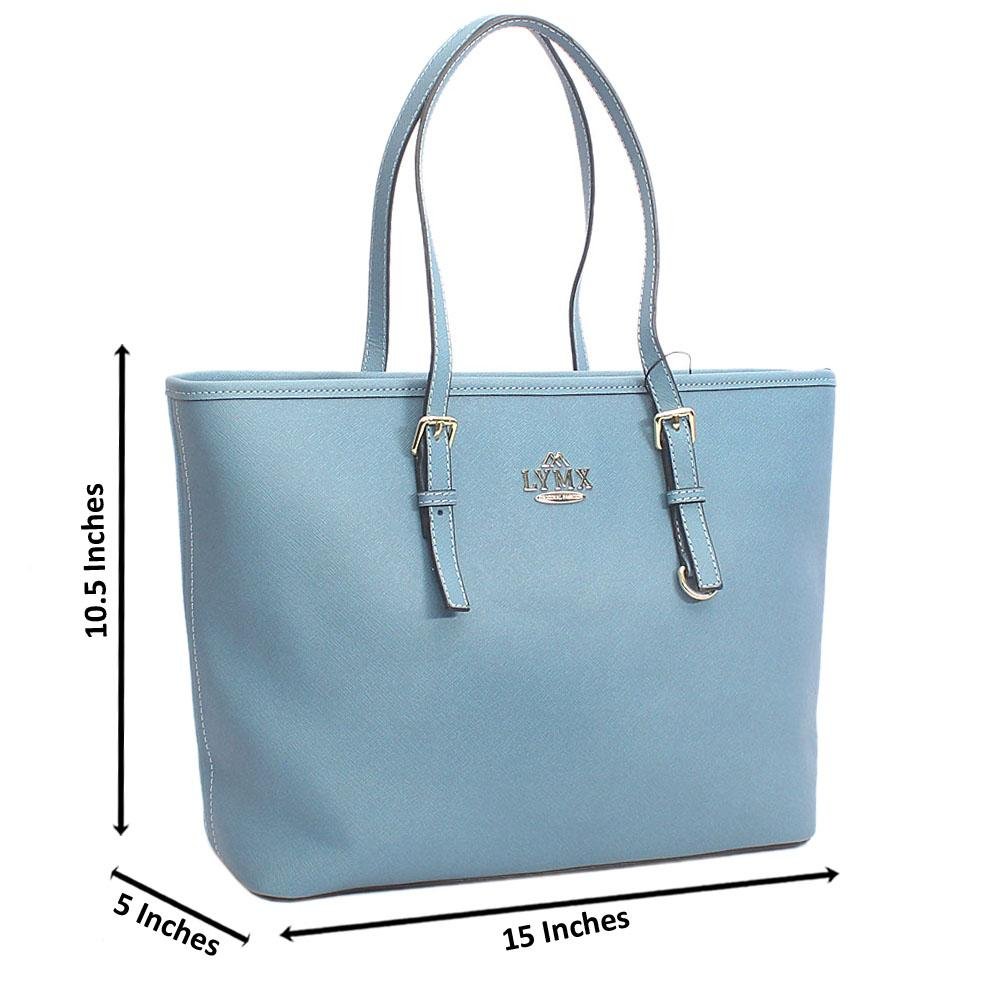 Sky Blue Median Jet Set Item Shoulder Handbag
