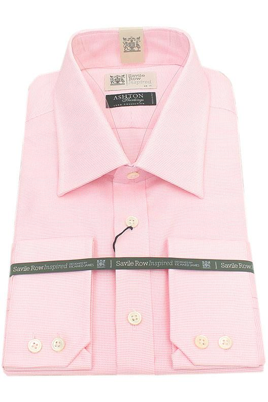Savile Row Pink Ashton Shirting Men Shirt
