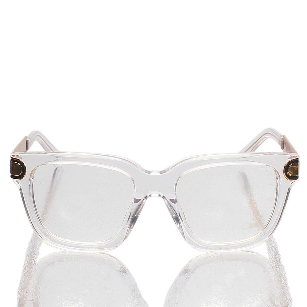 Gold Oxford Wayfarer Clear Lens Glasses